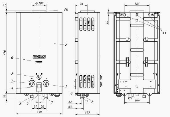 Размеры теплообменника газовых колонок Разборный пластинчатый теплообменник Теплотекс 50L Дербент